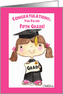 Little 5th Grade Graduate Girl card