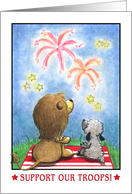 Lion and Lamb at Fireworks-Suppor Our Troops card