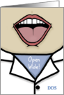 Congratulations on Becoming a Dentist-Open Wide card