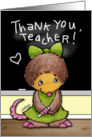 Thank You for Teacher- Mollie Mole at the Chalkboard card