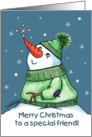 Snowman and Snowflake card