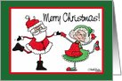 Santa and Mrs. Claus Dance card