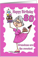 Granny Sweets- 80th Birthday card