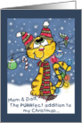 Christmas for Mom and Dad- Decorated Cat card