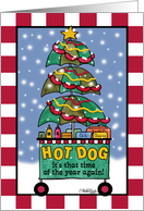 Hot Dog Cart-Christmas card