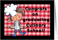 Congratulations for Culinary School Graduate- Chef with Rolling Pin card