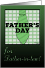 Father&rsquo;s Day for Father-in-law-Shirt and Tie design card