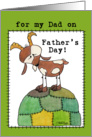 Happy Father&rsquo;s Day for Dad-Goat on a Hill-from Kid card