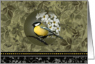 Yellow Bird Floral Blank Note Cards