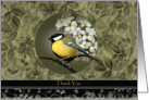 Yellow Bird Floral Business Thank You Cards
