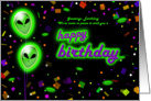 Alien Theme Happy Birthday Cards