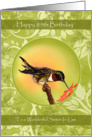 Hummingbird Happy 85th Birthday Cards for Sister In Law card