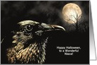 Customizable Crow In Moonlight Card