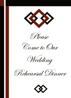 Rehearsal Dinner Invitation Card Greeting Card