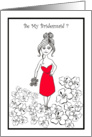 Bridesmaid Wedding Attendant Invitation card