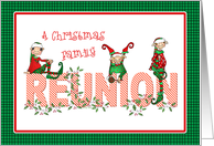 Elf Christmas Family Reunion Invitations card