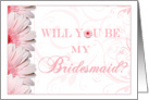 Pink Floral Fantasy Bridesmaid Invitations Paper Greeting Cards