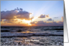Sunset on Waves Birthday Cards Paper Greeting Cards