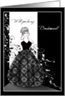New Bridesmaid Invitations Black and White Formal Cards