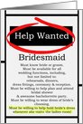 Humorous Bridesmaid Invitations Help Wanted Ad Cards