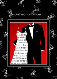 Rehearsal Dinner Invitation Celebrate with the Bride and Groom To Be Greeting Card