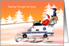 EMT Rescue Ambulance Health Care Christmas Cards