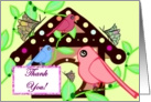 Birdhouse Thank You card