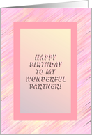 Birthday Partner! - Verse Inside card