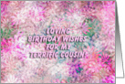 Happy Birthday Terrific Cousin! - Verse Inside card