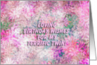 Happy Birthday Terrific Twin! - Verse Inside card