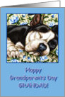 Grandad Happy Grandparents Day, Sleeping Boston Terrier card