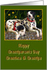 Grandma & Grandpa Happy Grandparents Day, Dalmatian dogs card