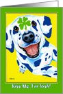 Happy St. Patrick's Day ~ Dalmatian Dog Clover card