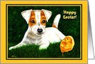 Easter ~ Jack Russell Terrier Puppy Chick Peeps card