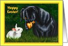 Easter - Dachshund Dog Bunny Rabbit card