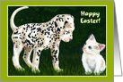 Easter - Dalmatian Puppy Kitten card