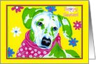 Easter - Dalmatian Dog Flowers card