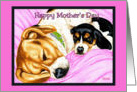 Mother's Day - Beagle Dog Puppy card
