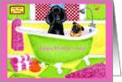Mother&rsquo;s Day ~ Poodle Pug Bubble Bath card