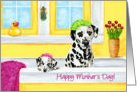 Mother's Day - Dalmatian Dogs Bath card