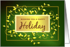 Happy Holiday - Classic Greeting Card