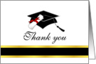 Graduation Thank You Card - Black and Gold card