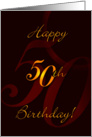 Birthday - 50 card