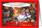 Festivus in the Manger Card
