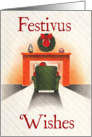 Santa Warms Up Festivus Card