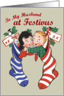 Retro-Style Happy Festivus to Husband Card