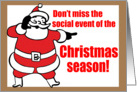 Nostalgic Christmas Party Invitation card