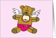 Baby Girl Little Angel Card