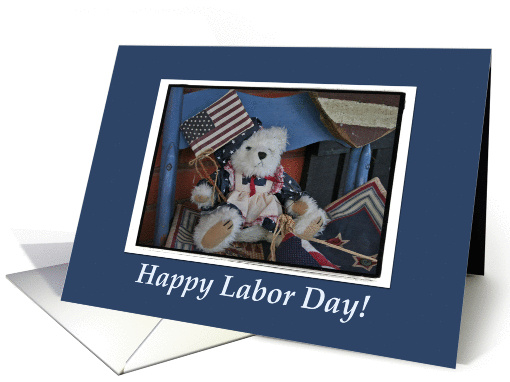 Labor Day Americana Teddy Bear card by Picture This