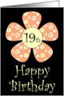 Happy Birthday 19th card